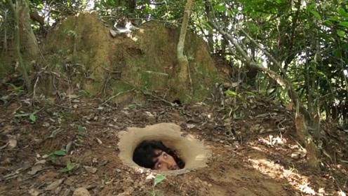 两兄弟隐居地下,掏空土山打造泳池豪宅,钻进去一看忍不住了!