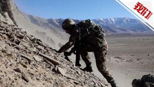 海拔4000米高原特战武警极限训练:手脚并用向近60度的山头猛冲