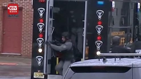 #美国新泽西发生1小时大规模枪战# 目击者:这辈子没听过这么多枪声
