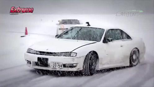 时速20km/h的漂移追走训练 来看看日本冰雪漂移的特色玩法
