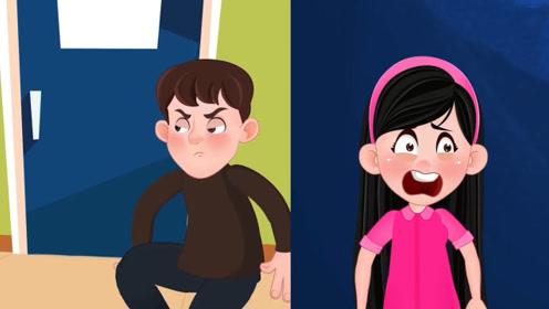 女孩在学校贴满男孩照片,男孩发现躲藏的女孩,却被女孩弄晕!