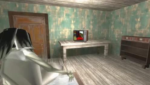 恐怖奶奶:修女看电视!