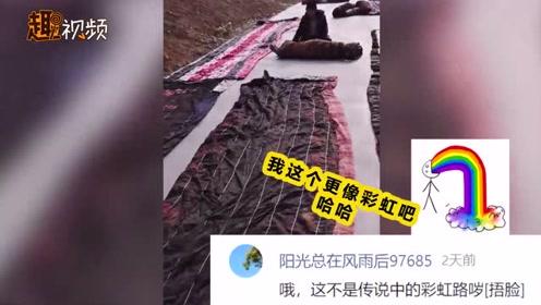 水泥路盖五六百条棉被 网友脑洞大开猜原因 当事人:怕路冻坏了