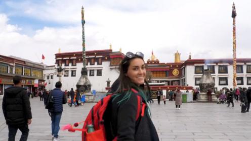 看到美国妹子在西藏拍的视频 海外网友说:狠狠打脸西方媒体