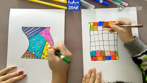 风中的旗帜 儿童涂鸦手工完整语音
