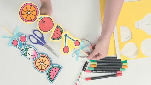 儿童手工绘画冰糖葫芦,过程好玩又简单,让宝宝来动手完成吧