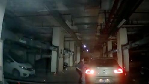 女司机淡定倒车入库,后面的车瞬间傻眼!