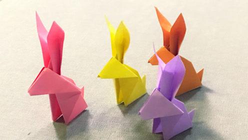 一只可爱的小兔子折纸 简单生动