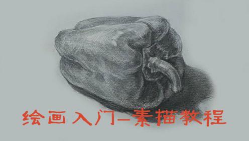 绘画初学者素描绘画教程零基础入门-素描辣椒-合尚教育