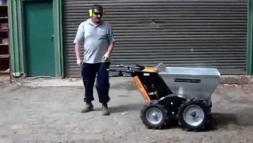 动力小推车,卸货很方便