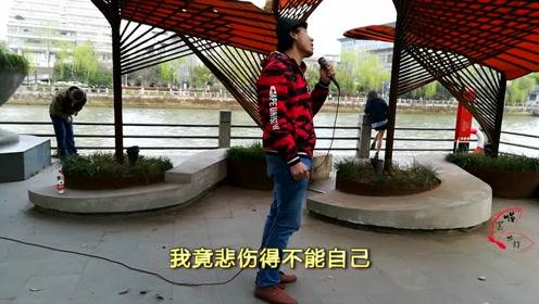 流浪歌手来到杭州,动情演唱《漂洋过海来看你》听完潸然泪下