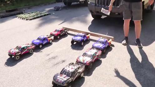用遥控玩具车拉一吨多重的小汽车,能拉的动吗?开眼了