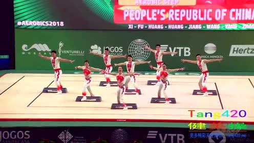 15届世锦赛中国队 有氧踏板