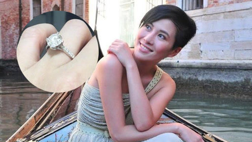 38岁叶璇带子结婚秀恩爱 手上硕大鸽子蛋钻戒超抢镜