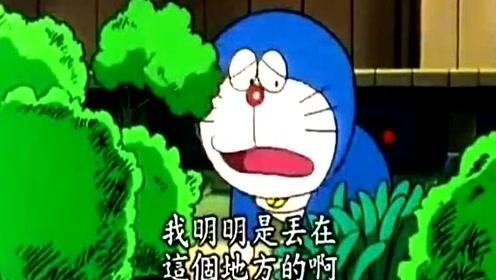 哆啦A梦用道具禁止大雄上厕所小便,大雄快被憋死了