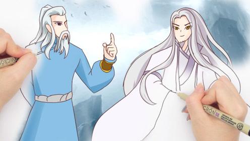 """双手绘:萧炎成长路上的两大""""守护神""""一位是药尘另一位是"""