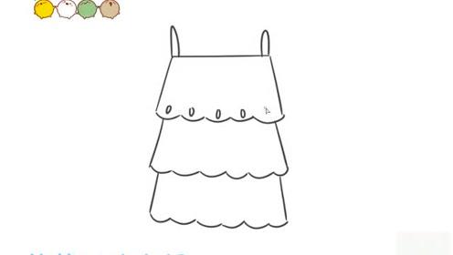 幼儿园亲子育儿简笔画服装篇——连衣裙