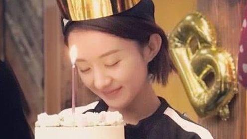冯绍峰提前给赵丽颖庆生 颖宝手捧蛋糕许愿满脸幸福!