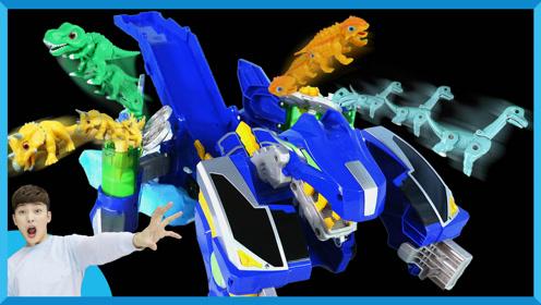 魔幻车神变身超级恐龙机器人