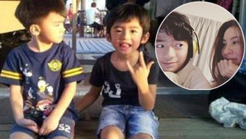 张柏芝晒儿子升学照 11岁就开始长胡子了