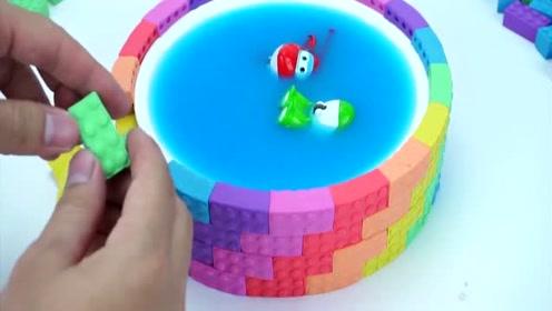 亲子手工diy:制作超级飞侠的游泳池,提高动手能力