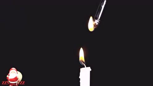 这样点蜡烛,很容易上瘾啊