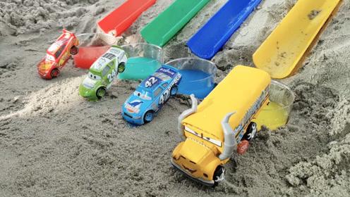 儿童益智启蒙,认识颜色,玩具汽车变彩色