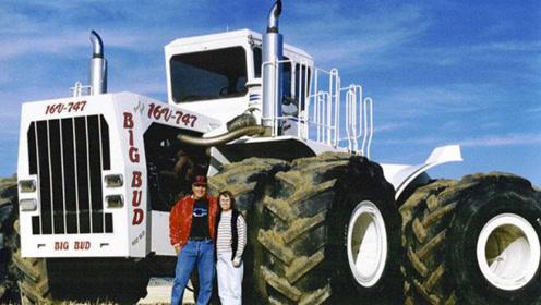 世界最大最贵拖拉机,价值2千万,一天耕4千亩地,一脚油门200块