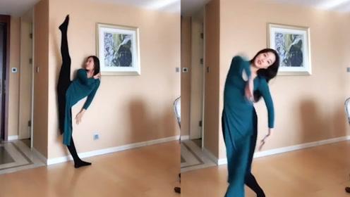 长腿美女一曲《琵琶行》,舞姿优美,堪比国色天香!