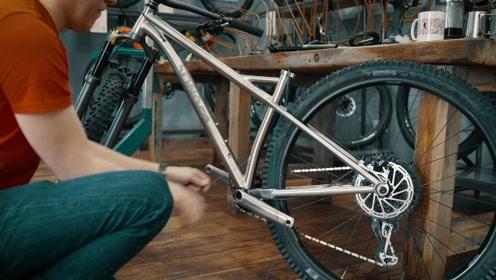 售价一万多元的自行车,采用航空材料钛合金!