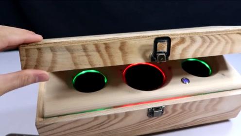 红酒箱扔了太可惜,手工极致改造秒变炫酷音箱