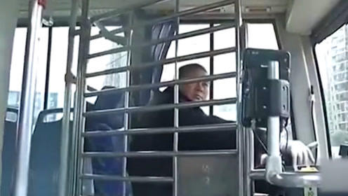 为保护驾驶员,公交车上装防护网,司机:再也不怕大妈了!