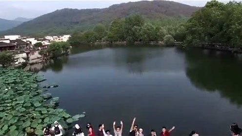 高清航拍,黄山宏村美景,宛如一幅名家的水彩画!