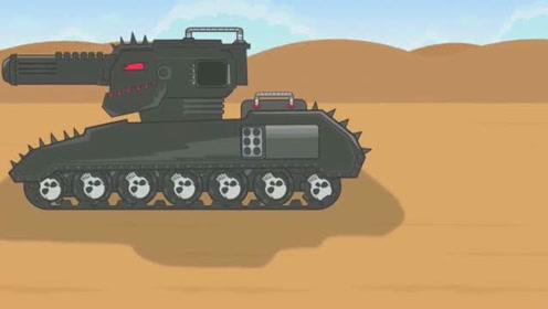 坦克世界搞笑动画:魔改巨鼠改成利维坦?这东西也太刺眼了