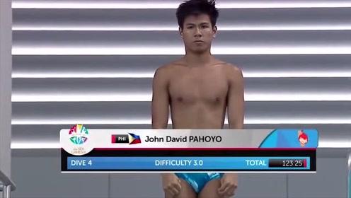 爆笑跳水!菲律宾灵魂跳水队,零分的你居然还击掌?