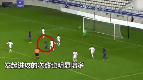 王霜成巴黎火力进攻点,球队进攻权+任意球+险造点,太帅气了啊!