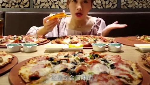 吃播大胃王:这披萨是怎样做出来的!密子君带我们探访0.1mm披萨