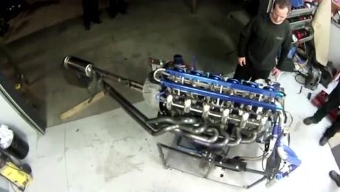 科技探索:感受一下12缸发动机的怒吼,真的是马力十足!