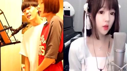 网红小情侣翻唱《盗将行》优美的旋律,忍不住单曲循环!