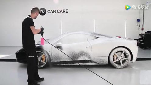 法拉利458深度清理! 豪车就是豪车,清理方式都和别的车不一样!