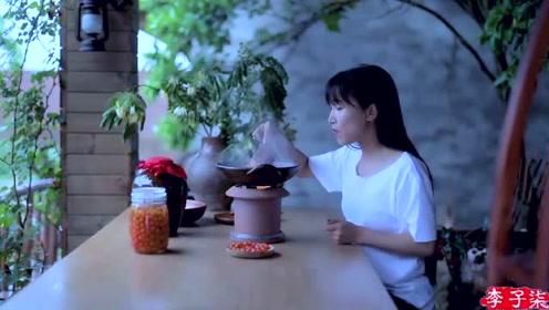 美食李子柒:诗一般的田园生活,斜日庭前风袅袅,碧油千片漏红珠!