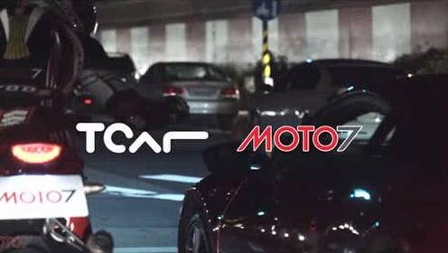 本田品牌的广告,自家旗下的摩托和跑车比赛