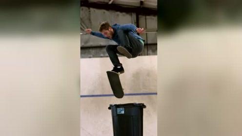 极限运动,慢动作欣赏滑板腾空的各种秀