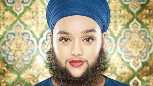 女人也会长胡子?25岁女子不仅长,而且拥有15厘米的胡子