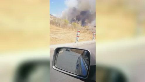 秦皇岛天马山发生山火 系两女子违法野外用火所致