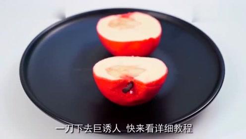 这么逼真的苹果,原来是牛人做的创意甜品,这技术太佩服了!