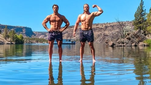 这画面太美了!自重健美五个黄金动作,肌肉男选择在水上大秀