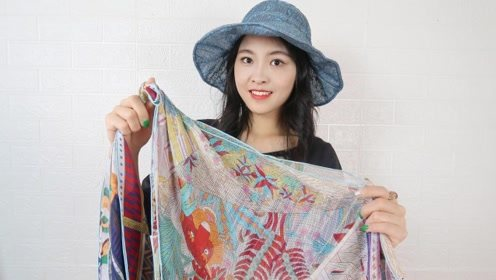 这才是丝巾的真用途,简单一围就能提升气质,没钱也能做贵妇!