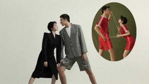 于小彤陈小纭合体拍杂志 背靠背穿一件衣服似连体儿动作同步