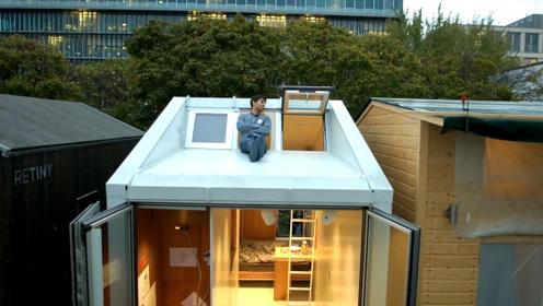 小伙住在9平米蜗居里,厨卫卧室阳台一样都不少,怎么实现的?